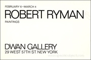 Robert Ryman : Paintings