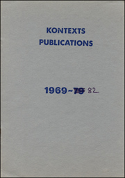 Kontexts Publications 1969 - 82