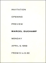 Invitation / Opening / Preview : Marcel Duchamp