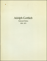 Adolph Gottlieb : Selected Works, 1938 - 1973