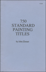 750 Standard Painting Titles
