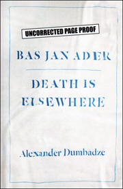 Bas Jan Ader : Death is Elsewhere