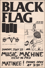 [Black Flag at Music Machine / Sunday, July 22]