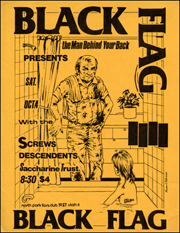 [Black Flag at North Park Lions Club [The Man Behind Your Back] / Sat. Oct. 4]
