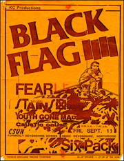 [Black Flag at CSUN [Six Pack] / Fri. Sept. 11]
