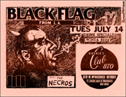 [Black Flag at Bookie's Club / Tues July 14]