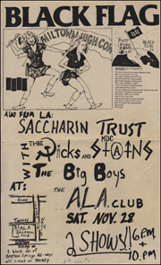 [Black Flag at the A.L.A. Club / Sat. Nov. 28]