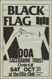 [Black Flag at the Elite Club / Sat Oct 31]