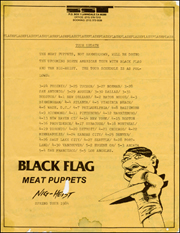 [Black Flag Tour Update / Spring Tour 1984]