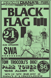 [Black Flag at Parr Tower / Aug. 24th. Saturday]