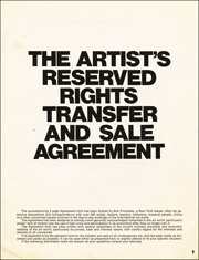 The Artist's Reserved Rights Transfer and Sale Agreement