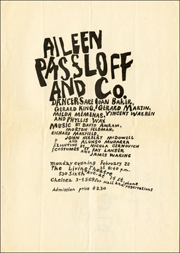 Aileen Passloff and Co. / Monday Evening, February 22 / The Living Theatre