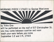 Morning Piece (1964) to George Maciunas