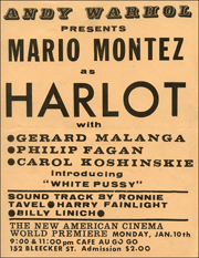 Andy Warhol Presents Mario Montez as Harlot