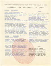 Film-Markers' Cinematheque Program for December 21, 1964