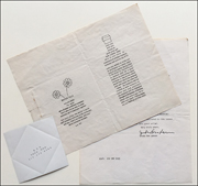 This Is Not Here [Water Talk Invitation, Signed Letter, R. S. P. Folding Invitation]