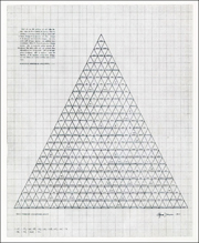 Agnes Denes / Dialectic Triangulation : A Visual Philosophy / Strength Analysis / A' - TA'