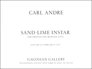 Carl Andre : Sand - Lime Instar (Destroyed 1966 / Remade 1995)