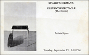 Stuart Sherman's Eleventh Spectacle (The Erotic)
