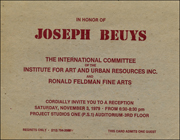 In Honor of Joseph Beuys