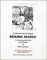 The 98 Green Street Loft Presents BOXING MATCH : A Confrontation Play in 10 Rounds