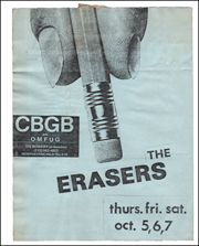 The Erasers at CBGB and OMFUG, Oct. 5, 6, 7, 1978