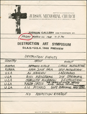 Destruction Art Symposium : D.I.A.S. - U.S.A. 1968 Preview