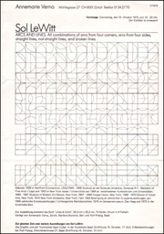 Sol LeWitt : ARCS AND LINES. All combinations of arcs from four corners, arcs from four sides, straight lines, not-straight lines, and broken lines.