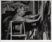 Vintage Photograph of Thomas Hart Benton by Peter Moore