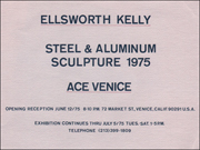 Ellsworth Kelly : Steel & Aluminum Sculpture, 1975
