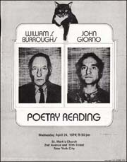 William S. Burroughs / John Giorno : Poetry Reading