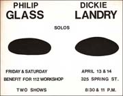 Philip Glass / Dickie Landry : Solos