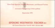 Announcement of the Opening of Sperone Westwater Fischer, Inc.