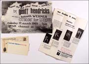 Geoff and Bici Hendricks and Black Thumb Press Promotional Materials