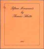 Fifteen Monuments by Thomas Schütte