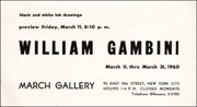 William Gambini : Black and White Ink Drawings