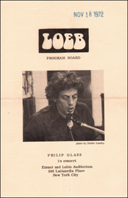 Loeb Program Board : Philip Glass in Concert
