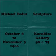 Michael Bolus : Sculpture