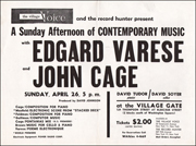 The Village Voice and the Record Hunter Present : A Sunday Afternoon of Contemporary Music