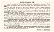 Camille's Reports #2