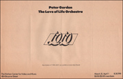 Peter Gordon : The Love of Life Orchestra