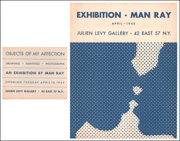 Objects of My Affection : An Exhibition by Man Ray [ aka : The Kiss (Poster for Man Ray exhibition, Julien Levy Gallery ; aka : Brochure for the Julien Levy Gallery Exhibition, Man Ray: Objects of My Affection ]