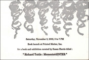 Richard Tuttle : Memento / cENTER, Announcement Card for Book Launch at Printed Matter, Inc.