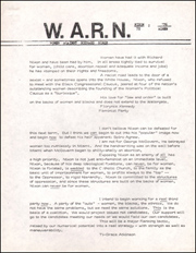 W.A.R.N. (Women Against Richard Nixon)