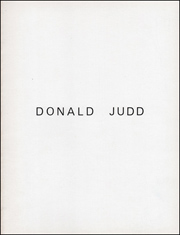 Donald Judd : Fifteen Works
