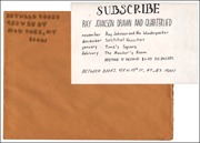 Subscribe : Ray Johnson Drawn and Quarterlied, Between Books