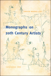 Monographs on 20th Century Artists