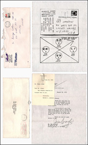 Correspondence Between Ronny Cohen, Joan Crawford, Morton L. Janklow, Ryosuke Cohen and Ray Johnson