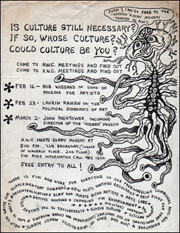 Art Workers Coalition Flyer [Is Culture Still Necessary? If So, Whose Culture? Could Culture Be You?]