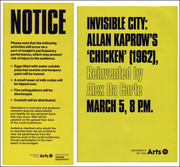 Invisible City : Allan Kaprow's 'Chicken' (1962), Reinvented by Alex Da Corte